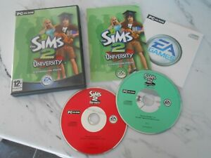 THE SIMS 2 UNIVERSITY EXPANSION PACK - PC GAME ADD-ON - FAST POST - COMPLETE