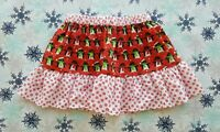 NEW GIRLS CHRISTMAS SNOWFLAKE SKIRT. WINTER PENGUINS. AGE 5-8. XMAS JUMPER.