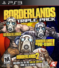 Borderlands Triple Pack PS3 New PlayStation 3, Playstation 3