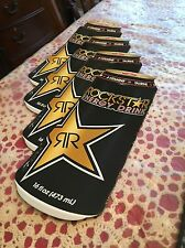 4 Authentic Rockstar Energy Drink Stickers / Sign / Decal Original Cans BMX Moto