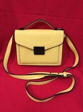 Pre-owned Women's Forever 21 Cross Body Bag Small Yelow Lemon Black Used