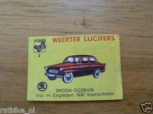 02 WEERTER LUCIFERS SKODA OCTAVIA,MATCHBOX LABELS,ETIKETTEN