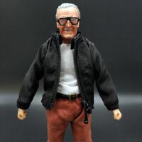 """SHF Figma Black Jacket Coat for 6"""" Mezco Dam 3A Male Figure Body Model Toy 1/12"""
