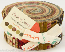 "Moda FABRIC Jelly Roll ~ HEART'S CONTENT ~ Laundry Basket Quilts - 2 1/2"" Strips"
