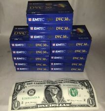 13 NEW Mini-Dv Video Cassette Blank Cassette Emtec Dvc-30 NOS Brand New Quality