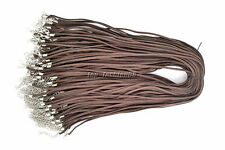 50pcs Brown Suede Leather String Necklace Cord Jewelry Making 47cm DIY FREE