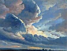 PAINTING SKYSCAPE STUDY DENIS CLOUDS SUNSET ROME POSTER ART PRINT BB12225B