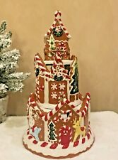 Blue Sky Clayworks Heather Goldminc Gingerbread Castle Tower Candle House