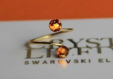 Gold Plated Topaz Toe/Knuckle Ring made with Swarovski Crystal Elements