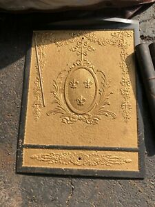 Antique Cast Iron Summer Fireplace Cover- Beautiful Gold and Black
