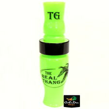 Tim Grounds Real Thang Short Reed Goose Call Lime Green Acrylic Black Pearl Band
