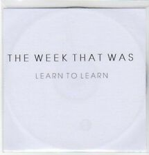 (AW574) The Week That Was, Learn to Learn - DJ CD