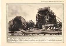 1916 Tanques De Agua De Reparación De Ferrocarril polaco Lida estación de montaña pistola mula equipo