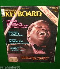1980 OSCAR PETERSON, Anthony Newman, Korg DL-50, Contemporary Keyboard Magazine