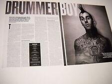 Blink 182 TRAVIS BARKER 2-Piece PROMO AD/TEXT Drum Boy