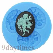 Angel Cameo Cabochon Silicone Mold For Chocolate Polymer Clay Fimo 40x30mm A260