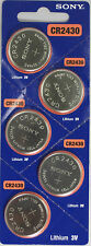5 Sony CR 2430 CR2430  Lithium 3-Volt Coin Cell Batteries