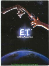 E.T. SOUVENIER PROGRAM MOVIE POSTER Art On Cover JAPANESE 9 BY 12 INCH MAGAZINE