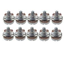 10PCS Electric Guitar Pots Full Size A250K Potentiometer 15mm Short Split Shaft