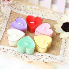 Set of 6 Romantic Heart Shaped Scent Tealight Fragrance Aroma Decorative Candles