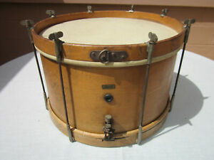 """Vintage Complete & Playable 1920s / 30s Leedy 14""""x7"""" 8-Lug Marching Snare Drum"""