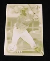 2016 BOWMAN DRAFT COREY RAY YELLOW PRINTING PLATE SSP RC #'d 1/1!