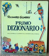 Richard Scarry PRIMO DIZIONARIO Italian Dictionary Vintage Large HB