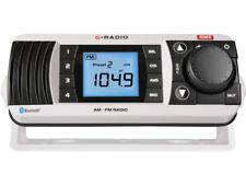 GME GR300BTW AM/FM MARINE RADIO WITH BLUETOOTH AUDIO WHITE