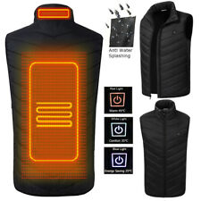 Electric Vest Heated Jacket USB Thermal Warm Heated Pad Winter Body Warmer Tops