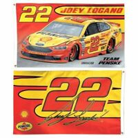 NASCAR Joey Logano # 22 Wincraft 2-Sided Deluxe 3' X 5' Flag w/ Grommets NEW!