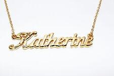 Katherine 18ct DORATURA COLLANA CON NOME-nekless COMPLEANNO NOME CATENA