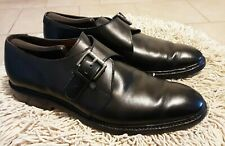Allen Edmonds Norwich Plain Toe Monk Strap Shoes Black Leather Sz 10D