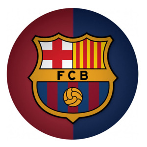 FC Barcelona Edible Cake Topper Birthday Party Decoration Round Image Soccer