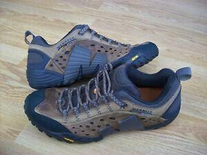 MENS BROWN MERRELL WALKING SHOES TRAINERS - UK 10