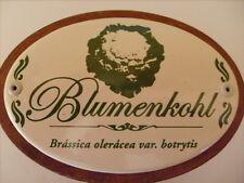 Pflanzschild Pflanzetikett Emaille Blumenkohl 30cm
