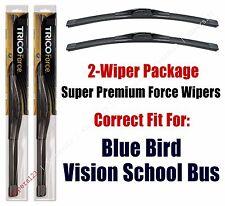 Wipers 2-Pk Hi-Performance - fits 2008-17 Blue Bird Vision School Bus - 25180x2