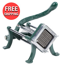 Commercial Kitchen Slicer 14 Cast Iron French Fry Potato Manual Press Cutter