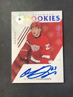 2018-19 UPPER DECK ULTIMATE MICHAEL RASMUSSEN '19-20 ROOKIE AUTO #ed 289/299