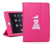 For iPad 2 3 4 5 Air Mini Pro Leather Smart Case Horse Ride Eat Sleep Repeat