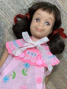 Vintage Skipper SKOOTER Doll - Brunette - Pretty Cut N Button PJs Booklet HTF