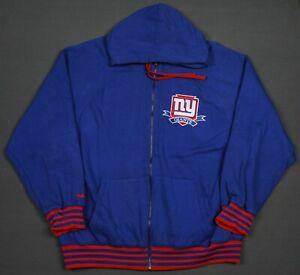 New York Giants Mitchell Ness Throwback Full Zip Hoodie 2XL