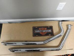 For Harley Davidson Shovelhead Slash Cut Exhaust Pipes
