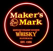 Makers Mark 12 x 12 Man Cave Remote Control RGB LED Sign led box
