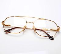 Vintage Vittorio Foscari 204 10 22Kt Gold Pilot Eyeglasses Optical Frame Lunette