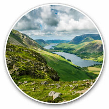 Lake District Angleterre UK Mobile Cell Phone Mini autocollants x 6 Drapeau de comté de CUMBRIA