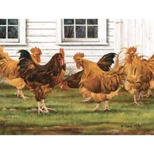 "On The Roost Chicken  Print by Deb Bovy  Image Size  7/"" x 19/"""