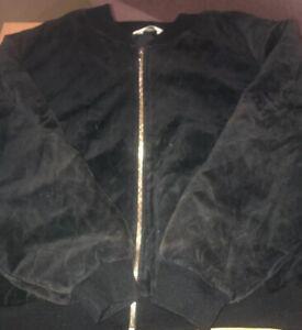 1970's Vintage Ladies Velvet Jacket St Michael M&S Black Quilted Size 12/14