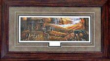 "Ray Mertes /""First Snow/"" Deer Buck Farm Print-Framed 33.5/"" x 23.5/"""