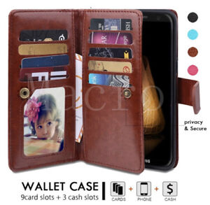 For iPhone 8 7Plus Leather Magnetic Removable Flip Case Thick Wallet Card Cover