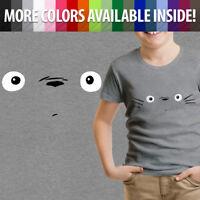 My Neighbor Totoro Face Cute Ghibli Anime Teen Youth Kids Tee Crew Neck T-Shirt